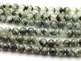 Prehnite Faceted Round Gemstone Beads 10mm (GS4024)