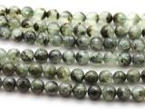Prehnite Faceted Round Gemstone Beads 10mm (GS4024)