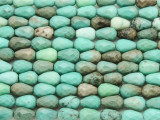 Green Moss Opal Faceted Teardrop Gemstone Beads 8mm (GS4055)