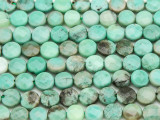 Green Moss Opal Round Tabular Gemstone Beads 8mm (GS4056)