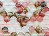 Mixed Quartz Round Gemstone Beads 8mm (GS4089)