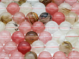 Mixed Quartz Round Gemstone Beads 10mm (GS4090)