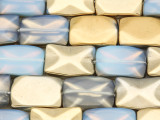 Gold Electroplated Opalite Rectangle Tabular Gemstone Beads 19mm (GS4093)