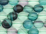 Fluorite Round Tabular Gemstone Beads 13mm (GS4098)