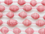 "Pink Recycled Paper Beads - 36"" strand (PA108)"