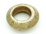 Ethiopian Brass Ring - Amulet 36mm (ER297)
