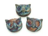 Owl Raku Ceramic Bead 25mm - Peru (CER117)