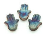 Hamsa Hand Raku Ceramic Bead 28mm - Peru (CER120)