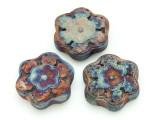Flower Raku Ceramic Bead 58mm - Peru (CER123)