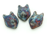 Wolf Raku Ceramic Bead 30mm - Peru (CER125)