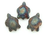 Sea Turtle Raku Ceramic Bead 32mm - Peru (CER130)
