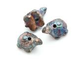 Turtle Raku Ceramic Bead 26mm - Peru (CER131)