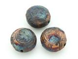 Celtic Knots Raku Ceramic Bead 22mm - Peru (CER137)