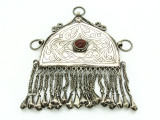 Afghan Tribal Silver Pendant - Amulet 109mm (AF510)