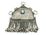 Afghan Tribal Silver Pendant - Amulet 110mm (AF511)
