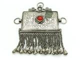 Afghan Tribal Silver Pendant - Amulet 116mm (AF512)