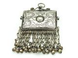 Afghan Tribal Silver Pendant - Amulet 110mm (AF518)