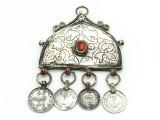 Afghan Tribal Silver Pendant - Amulet 110mm (AF519)