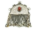 Afghan Tribal Silver Pendant - Amulet 124mm (AF521)