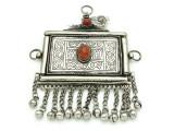 Afghan Tribal Silver Pendant - Amulet 120mm (AF524)