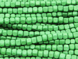 Green Cube Wood Beads 4mm (WD927)