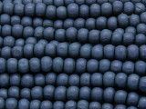Denim Blue Round Wood Beads 6mm (WD929)