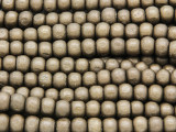 Bronze Irregular Round Wood Beads 5mm (WD930)