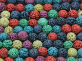 Multi-Color Round Lava Rock Beads 8-9mm (LAV125)