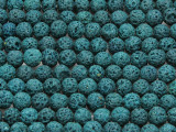 Teal Round Lava Rock Beads 7mm (LAV126)