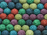 Multi-Color Round Lava Rock Beads 10-11mm (LAV128)