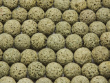 Yellow-Green Round Lava Rock Beads 10-11mm (LAV130)