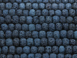 Navy Blue Rondelle Lava Rock Beads 8mm (LAV136)