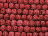 Cranberry Red Rondelle Lava Rock Beads 10mm (LAV144)