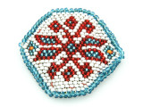 Old Kuchi Beaded Tribal Medallion - Afghanistan 48mm (AF530)