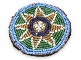 Old Kuchi Beaded Tribal Medallion - Afghanistan 76mm (AF531)