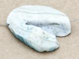 Blue Druzy Agate Pendant 45mm (GSP1628)