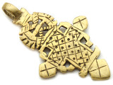 Brass Coptic Cross Pendant - 65mm (CCP624)