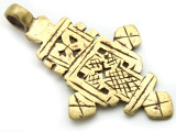 Brass Coptic Cross Pendant - 60-61mm (CCP627)