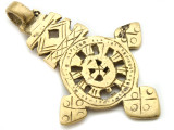 Brass Coptic Cross Pendant - 64mm (CCP629)