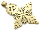 Brass Coptic Cross Pendant - 62-64mm (CCP631)