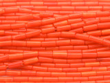 Orange Bamboo Coral Tube Beads 9mm (CO543)