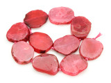 Pink Agate Slab Gemstone Beads 36-42mm (AS830)