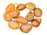 Orange Agate Slab Gemstone Beads 35-37mm (AS844)