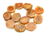 Orange Agate Slab Gemstone Beads 30-35mm (AS846)