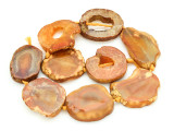 Orange Agate Slab Gemstone Beads 37-52mm (AS850)