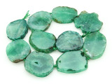 Green Agate Slab Gemstone Beads 35-46mm (AS857)