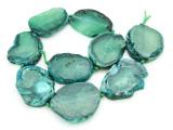 Green Agate Slab Gemstone Beads 39-46mm (AS859)