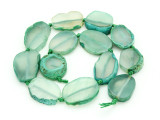 Green Agate Slab Gemstone Beads 23-33mm (AS865)