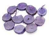 Purple Agate Slab Gemstone Beads 31-42mm (AS881)