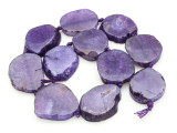 Purple Agate Slab Gemstone Beads 31-41mm (AS883)